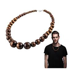 wood beaded necklace images Evbea wood bead necklace africa wooden chain statement unisex jpg