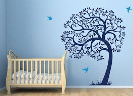 Nursery Wall Decals For Boys Spectacular Blue Coloring Nursery Wall Decals For Baby Boy Tree Of
