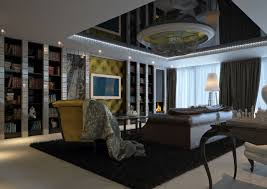 interior of living room in modern classic style by dimitar