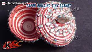 diy how to make paper quilling tiny basket jk arts 394 youtube
