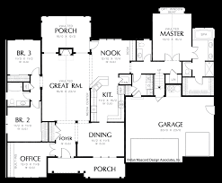 Great Room Plans Mascord House Plan 22158a The Jasper