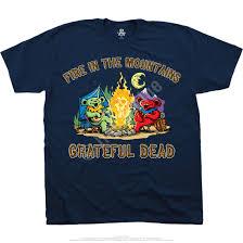 grateful dead fire in the mountain navy t shirt tee liquid blue