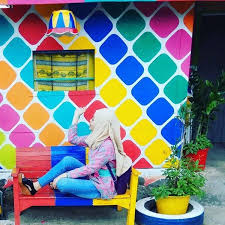 kampung pelangi rainbow village in indonesia covered in colorful art