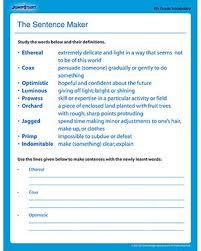 vocabulary worksheet maker worksheets