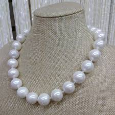 white shell pearl necklace images Genuine 12 20mm white south sea shell pearl necklace jewelry aaa jpg