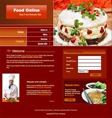 food online template free website templates