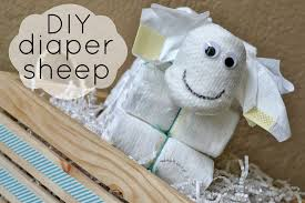 diy diaper sheep baby shower decor hello splendid