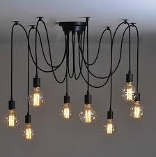Industrial Lighting Chandelier Antique Classic Ajustable Diy Ceiling Spider L Light Retro