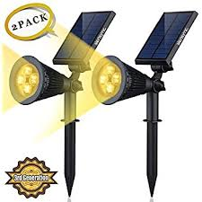 solar led lights 2 pack 3rd generation siensync tm 2 in 1