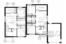 plan de maison avec 4 chambres maison et chalet avec 4 chambres plans dessins drummond