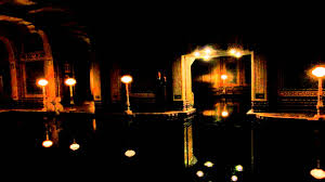 hearst castle indoor swimming pool at night youtube