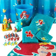 The Little Mermaid Curtains Bold Design The Little Mermaid Bathroom Decor The Little Mermaid