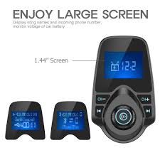amazon com nulaxy wireless in car bluetooth fm transmitter radio