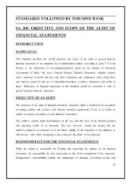 auditing standards indusind bank