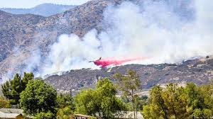 Wildfire Radar by Drone Temporarily Halts Air Drops Over Wildfire In San Bernardino
