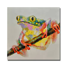 frog on the tree picture cantoon animal wall hanging decorations frog on the tree picture cantoon animal wall hanging decorations for home living room decor good quality in painting calligraphy from home garden on
