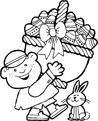 easter basket with eggs coloring page easter basket coloring pages free coloring pages