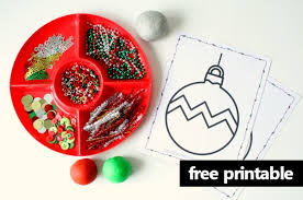free printable ornament play dough mats fantastic