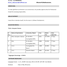 bca resume format for freshers pdf to excel resume format for freshers bca free doc and ideas collection cover