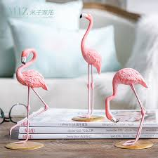 Home Decoration Gifts Miz Home 1 Resin Pink Flamingo Home Decor Figure For