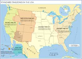 Map Of The United States In Color by Time Zone Map Of The United States Nations Online Project