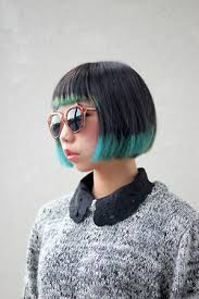long bob with dipped ends hair short bob with colored tips hair ideas pinterest short bobs