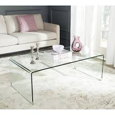 Clear Coffee Table Safavieh Home Collection Willow Clear Coffee Table