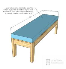 Plans For Building A Wood Bench by Best 25 Ana White Bench Ideas On Pinterest White Outdoor Bench