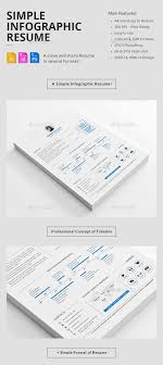 easy resume template best infographic resume templates for you