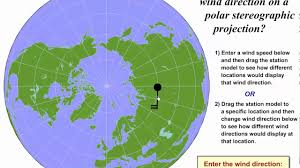 Direction Map Determining Wind Direction On A Polar Stereographic Map Youtube