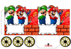 super mario bros princess carriage shaped free printable box