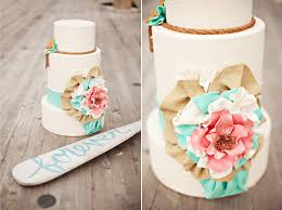 consider a dockside destination wedding mint wedding cake