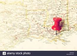 Map Of New Orleans Louisiana by Red Pin On Map Pointing At New Orleans Louisiana Stock Photo