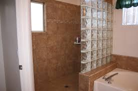 interior picturesque doorless shower for purposes of bathing