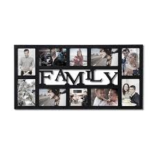 adeco decorative black wood family wall hanging collage picture