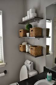 Small Bathroom Organization by Diy Bathroom Storage Ideas Two Round Drop In Sinks Grey Color Wall