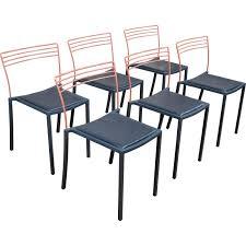 chaises fermob suite de 6 chaises fermob pascal mourgue 1990 design market