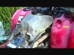 how to clean out a yamaha kodiak 450 carb youtube