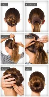 hair bun maker instructiins sock bun hacks tips tricks how to wear hair up in donut hair