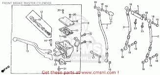 honda vt750c shadow 1983 d usa front brake master cylinder