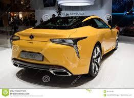 lexus lc 500 auto show 2018 lexus lc 500 luxury coupe hybrid car editorial stock image