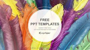 powerpoint design colors feathers in colors recreation powerpoint templates