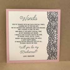 bridesmaid invite someone be your smaid of honor bridesmaid letter way
