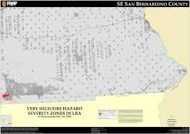 Map Of San Bernardino California Cal Fire San Bernardino South East County Fhsz Map