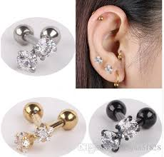 ear piercing earrings online cheap stainless steel tragus helix ear stud earring