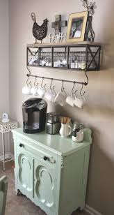 kitchen room design iron hanging coffee cup diy station decor