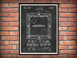 patent 1935 monopoly board game patent by cb darrow art print
