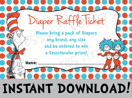 dr suess baby shower diaper raffle instant download
