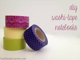 washi tape diy diy washi tape notebooks two purple couches