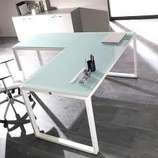 bureau en verre blanc bureau en verre transparent bureau verre blanc design pas cher